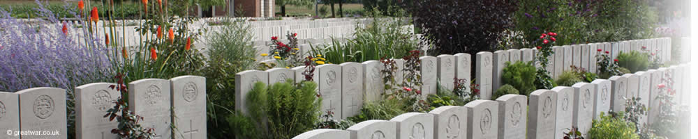Some of the 10,755 identified graves in Lijssenthoek Military Cemetery.