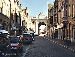 Meensestraat & Menin Gate Memorial to the Missing, Ypres