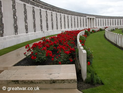 Memorial wall at Tyne Cot Cemetery, Ypres Salient.