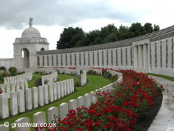 The Tyne Cot Memorial to the Missing, Passchendaele.