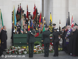 Wreaths laid at the Menin Gate.