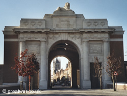 The Menin Gate Memorial in Ieper/Ypres.