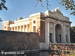 The Menin Gate Memorial to the Missing in Ypres.