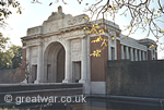 The Menin Gate Memorial to the Missing, Ypres, Belgium.