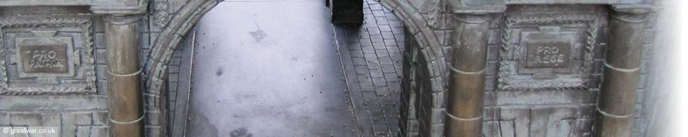 Menin gate memorial bronze replica for Replica mobel england