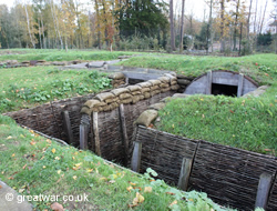 Replica trenches at Memorial Museum Passchendaele, Zonnebeke