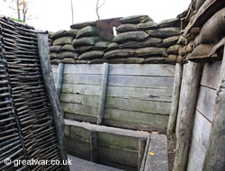 Replica trench at Memorial Museum Passchendaele 1917.