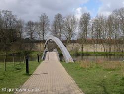 Ramparts Bridge over the moat, Ypres/Ieper