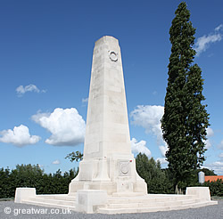 Monument to the New Zealand Division at 's Graventafel on the Ypres Salient battlefield.