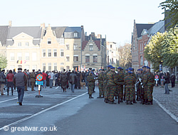 Parades forming up in Ypres on 11 November
