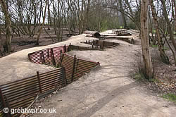 Trench at Hill 62 Sanctuary Wood Museum, near Ypres.