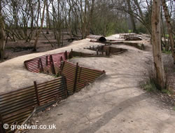 Trench at Sanctuary Wood, Ypres, Belgium