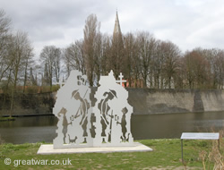 Sculpture by Johan Beele, Ypres/Ieper.