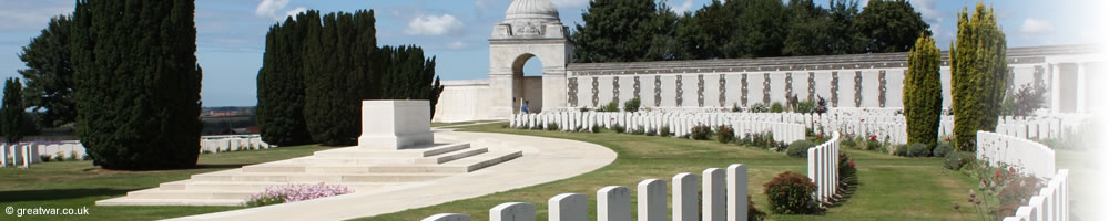 British and Commonwealth graves at Tyne Cot Cemetery, Belgium