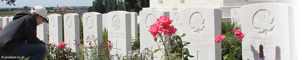Young visitor at Tyne Cot Cemetery.