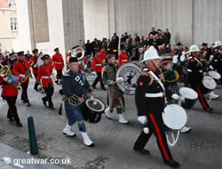 Bands at the Special Last Post ceremony on Armistice Day 11th November.
