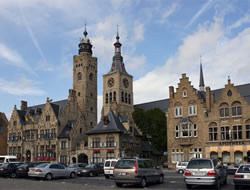 The Town Hall and St Nicholas Church, Diksmuide