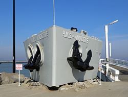 Bow of HMS Vindictive, Ostend